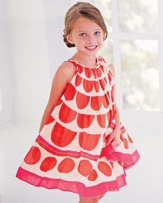 Circle Print Dress by Halabaloo.  $79 at CWDkids.com