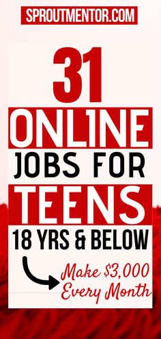 Here are the best online jobs for teens, students any other high school or college student looking for work from home jobs to make extra money every month. You do not any experience or special training to make money with these jobs. #onlinejobs #workfromhomejobs #sidejobs #parttimejobs #money #makemoneyonline #finance #jobs