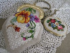 Stitched by Svetlana O. My work.//////  Booklet 3739: Little Cross Stitch Purses by Barbara Baatz published by The American School of Needlework, Inc. in 2002. I was able to by this booklet in June 2015 on Ebay from    crafty_raven.  Haven,t made one yet, it's a future project!