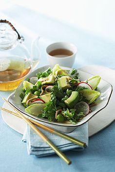 mexican avocado, edamame and radish asian salad...