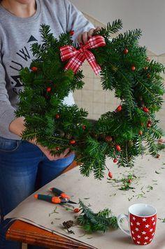 20151217 DIY: wieniec świąteczny | Od inspiracji do realizacji...