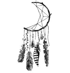 Hand drawn dream catcher vector image on VectorStock Dream Catcher Sketch, Dream Catcher Vector, Dream Catcher Tattoo Design, Dream Catcher Art, Native American Tattoos, Native Tattoos, Cool Drawings, Tattoo Drawings, Tattoo Sketches