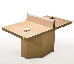 Tennino: A Self Assemble Cardboard Ping-Pong Table