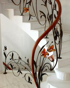 Escaleras Artesnia En Fierro En 2019 Stairs Staircase Design Y Wrought Iron Stair Railing, Stair Railing Design, Staircase Railings, Staircases, Railing Ideas, Banisters, Grand Staircase, Rustic Stairs, Modern Stairs