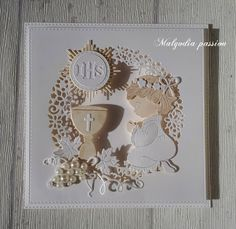 First Communion Cards, First Holy Communion, Confirmation Cards, Baptism Favors, Christening, Making Ideas, Holi, Card Making, Frame
