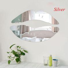 Neue 3d spiegel liebe lippen wandaufkleber aufkleber diy art wandbild decor abnehmbare spiegel wandaufkleber 1 satz