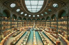"Photographer Franck Bohbot's stunning architecture photos have captured grand movie theaters and glowing city signs, among other subjects. His latest work in progress is ""House of Books,"" a lush tribute to the libraries of the world."