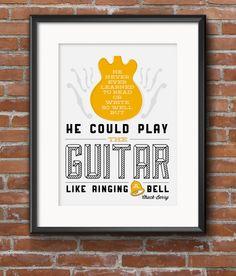 Guitar Poster to download & print - Chuck Berry Lyrics