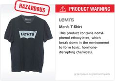 Levi's t-shirt   #Detox #Fashion icreadible this cant be enought for the company to stop it