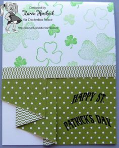 Karen's Kreative Kards: Happy St. Patrick's Day from Crackerbox Palace and Me!