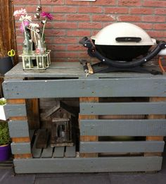 1000 images about meuble plancha on pinterest pallet for Table exterieur palette