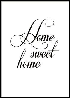 Schwarz-weißes Plakat mit Typografie, home sweet home. Black and white poster with typography, home sweet home. Mode Poster, Poster On, Poster Prints, Image Tumblr, Desenio Posters, Collage Mural, Sweet Home, Buy Posters Online, Black And White Posters