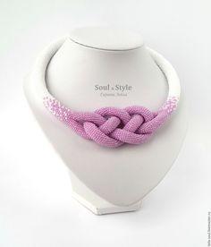 """Купить Жгут-колье """"Жозефина"""" - фиолетовый, необычный подарок, нежное украшение, нежное колье"""