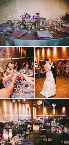 Purple and Gray loft real wedding {Photography by: Jordan Quinn Photography} #weddings