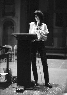Patti Smith, early poetry reading, St. Mark's Church, NYC, ca 1971.