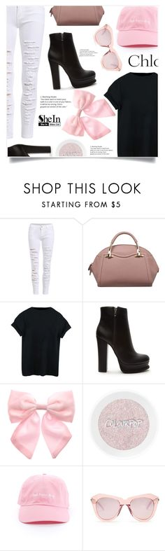 """""""Bez naslova #1669"""" by violet-peach ❤ liked on Polyvore featuring Forever 21, Pumpkin Patch, Karen Walker and Chloé"""