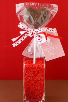 Valentine's Day Chocolate Marshmallow Heart Pops