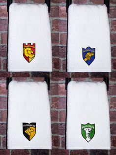 Harry Potter hogwarts Gryffindor bathroom towel harry potter gift harry potter clothing Slytherin wedding gift wizard fantasy birthday gift ideas