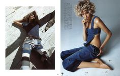 visual optimism; fashion editorials, shows, campaigns & more!: the spirit of denim: alisa ahmann by camilla akrans for vogue japan march 2015