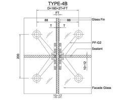 FRAMELESS GLASS-FIN FACADE :: Frameless Glass Sliding Doors & Pool Fencing :: Linox Technology