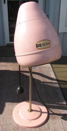 VINTAGE 1950's BEEHIVE STAND UP KENMORE HAIR DRYER - WORKING - PINK SHABBY CHIC