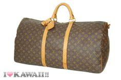 Auth Louis Vuitton Monogram Keepall 60 Bandouliere Bag Boston Duffle Free Ship!