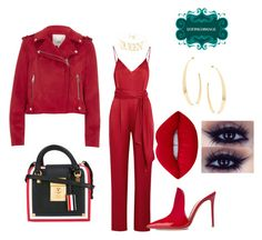 """""""Untitled #637"""" by d3finedimage on Polyvore featuring Diane Von Furstenberg, River Island, Thom Browne, Gianvito Rossi, Lime Crime and Lana"""