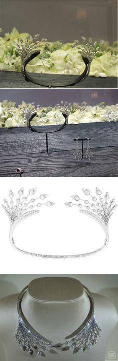BOUCHERON, biennale des antiquaires 2014 - collection Rêve d'Ailleurs, collier tiare Splendeur de Russie convertible necklace-tiara