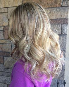 "Cadillac Michigan Hair Artist (@sunkissed.byshelby) on Instagram: ""Helped this cute girl reach her blonde hair dreams today ✨"" blonde hair curls hair hair goals dream hair blondie"