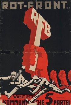 """redmensch: """"bring back the roter frontkämpferbund and smash fascism once and for all """" Political Posters, Bring It On, Classic, Movie Posters, Pictures, Vintage, Philosophy, Red, Derby"""