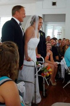 Paralyzed bride walks down the aisle to marry the man of her dreams #truelove #fairytale #inspiration