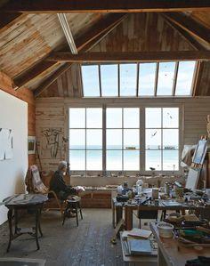 St Ives studio of Long Kentish. Photo: Paul Massey