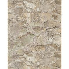 "Weathered Finishes 33' x 20.8"" Field Stone Wallpaper 