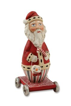 ROLLING ROLY POLY SANTA Christmas Figurine Bethany Lowe Allen Cunningham NEW in Collectibles | eBay