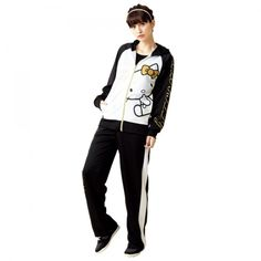 Hello Kitty Jersey Track Suit Hoodie Tops Bottoms Set Sanrio from Japan