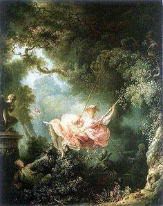 Autore: Jean-Honoré Fragonard Nome dell'opera: L'AltalenaData: 1767Tecnica: olio su tela Collocazione attuale: Wallace Collection, Londra