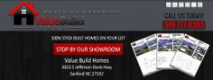 Facebook header design for Value Build Homes in Sanford NC