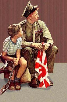 American  WW2  Norman Rockwell