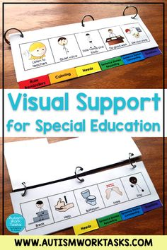 Behavior Management: Visual Aid Flip Book Try this behavior management flip book for your special education classroom. Give students this communication tool for rule reminders, calm down supports, and expressing needs. Using visual supports. Preschool Behavior Management, Special Education Behavior, Behavior Management System, Kindergarten Special Education, Autism Education, Autism Resources, Education Conferences, Education City, Education Galaxy