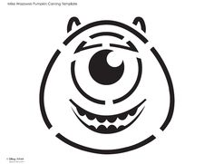 Pumpkin stencil boba fett and pumpkin carving templates for Mike wazowski pumpkin template