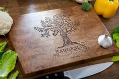 Personalized butcher block Chopping board End Grain cutting board Wedding Gift Housewarming Gift Anniversary Gift Engagement Chopping Board