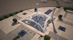 From Wikiwand: A sample of modern Islamic architecture - The mosque of international conferences center - Isfahan Mosque Architecture, Concept Architecture, Futuristic Architecture, Architecture Design, Architecture Background, Islamic City, Islamic World, Beautiful Mosques, Beautiful Buildings