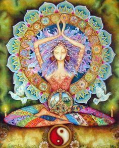 No Yoga, No Peace. Know Yoga, Know Peace. Yoga-Linda Yoga Mats, Towels, Accessories for every Yogi Sacred Feminine, Divine Feminine, Yoga Kunst, Yoga Studio Design, Psy Art, Yoga Art, Yoga Meditation, Kundalini Yoga, Zen Yoga