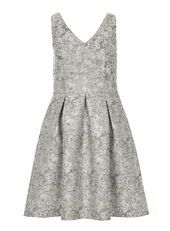 **Luxe silver jacquard dress