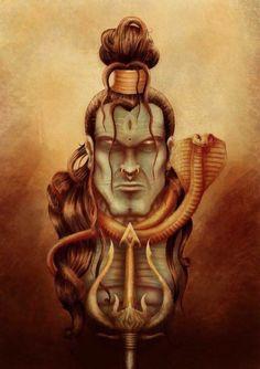 Shiva Art, Krishna Art, Hindu Art, Rudra Shiva, Shiva Shakti, Tattoo Buddhist, Shiva Tattoo Design, Hindu Worship, Mothers