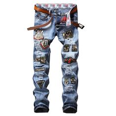 2704 2017 Designer jeans <b>men High quality</b> brand <b>Men</b> jeans slim ...