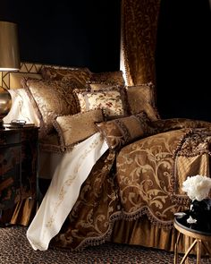 Sweet Dreams Gold Leaf Bed Linens