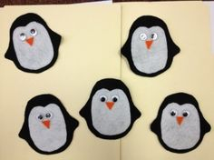 Five Little Penguins #penguins #counting #polar #flannelfriday #flannelboards