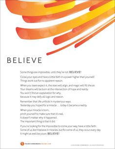 Believe  | Values to Live By | www.FrankSonnenbergonline.com
