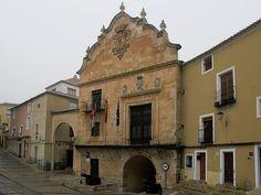 Ayuntamiento (Town Hall) of Chinchilla in Castilla-La Mancha, Spain. Built from the 16th-18th centuries.